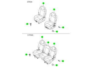 REAR SEAT 2ND ROW(HANIL)