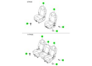 REAR SEAT 2ND ROW(HANIL)