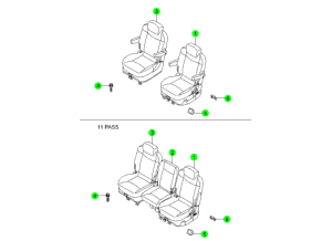 REAR SEAT 1ST ROW(DAEWON KANG UP)