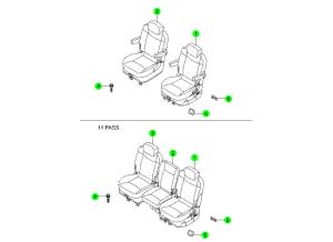 REAR SEAT 1ST ROW(DAEWON KANG UP)
