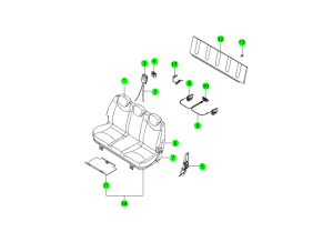 REAR SEAT PARTS 3RD(HANIL)