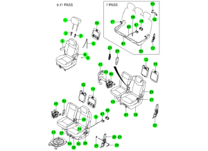 REAR SEAT PARTS 1ST & 2ND(DAEWON KANG UP)