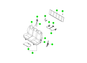 REAR SEAT PARTS 3RD(DAEWON KANG UP)