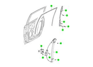 Задний стеклоподъемник