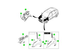 Крыло и панель фартука