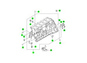 Блок цилиндров (D20,D27)