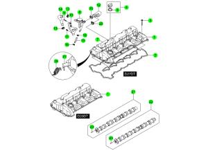 Крышка головки блока и распредвал (D20,D27)