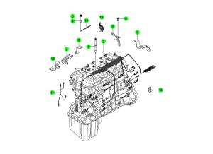 Проводка двигателя (D20,D27)