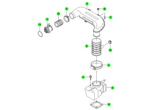 Система воздухозабора (E32)