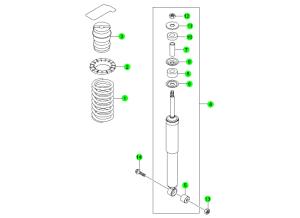Задний амортизатор и пружина (5-LINK)