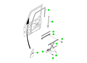 FRONT WINDOW LIFTER
