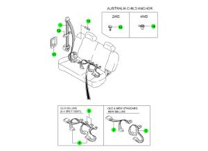 Ремень безопасности заднего сидения