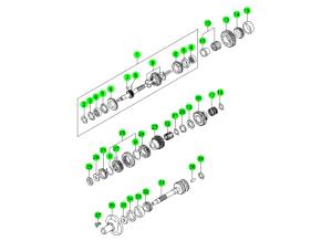 OUTPUT & INPUT SHAFT-T5WC(2)