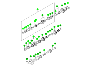 OUTPUT & INPUT SHAFT-T5WC(3)
