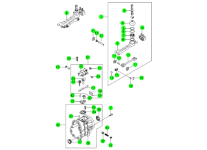 SHIFTER & EXTENSION-TSM54(M/T,4WD)