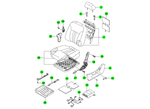 Части переднего сидения