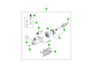 STARTING MOTOR(OM600;BOSCH)