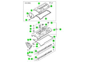 Крышка головки блока и распредвал (GSL)