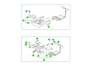 Направляющие салазки сиденья