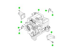 Двигатель в сборе (E23)