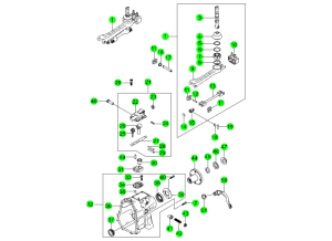 SHIFTER & EXTENSION-TSM52(M/T,2WD)