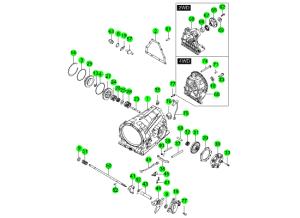Корпус трансмиссии и компоненты (M78:DSI 6A/T)