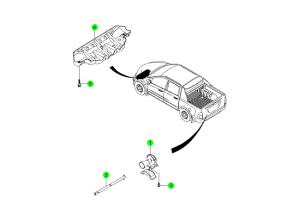 Защита двигателя и запасное колесо