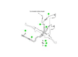 Патрубки системы усилителя руля