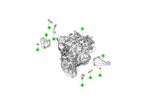 Двигатель в сборе (D20F,D20R)
