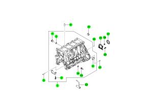 Блок цилиндров (D20F,D20R)
