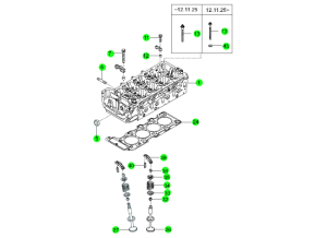 CYLINDER HEAD & GASKET KIT(D20F,D20R)