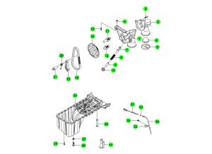 Маслянный насос и поддон (E23)