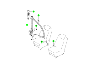 Ремень безопасности переднего сидения
