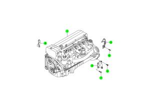 Двигатель в сборе (E32)