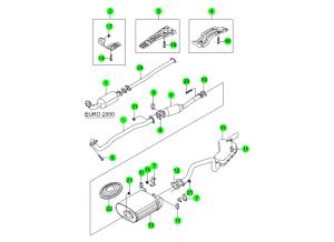 EXHAUST SYSTEM(E20,E23)