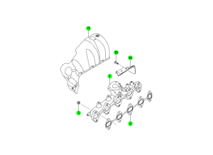 EXHAUST MANIFOLD(D20F,D20R,D22F,D22R)