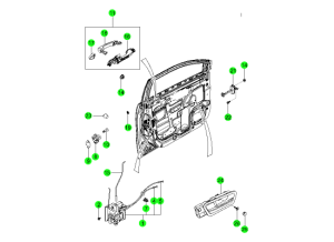 Система открывания передней двери