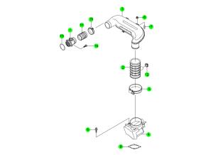 AIR INTAKE SYSTEM(E28,E32,E36)