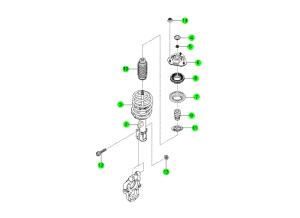 Передний амортизатор и пружина