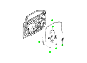 Передний стеклоподъемник