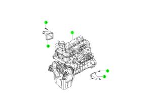 Двигатель в сборе (D20,D27)