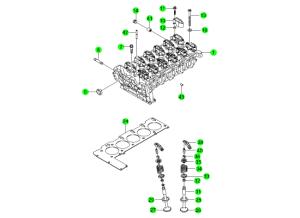 Головка блока и комплект прокладок (D20,D27)