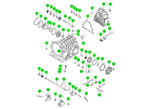 Корпус трансмиссии и компоненты (BTR M74)