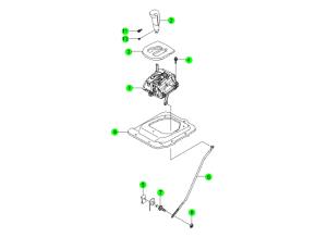 Механизм переключения передач АКПП (DSI 6AT)
