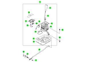Механизм переключения передач АКПП (BTRA)