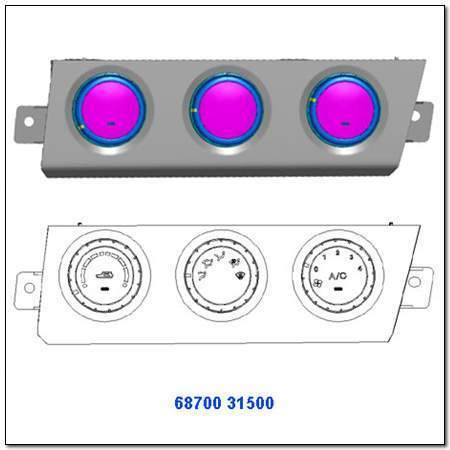 ssangyong 6870031500HCH