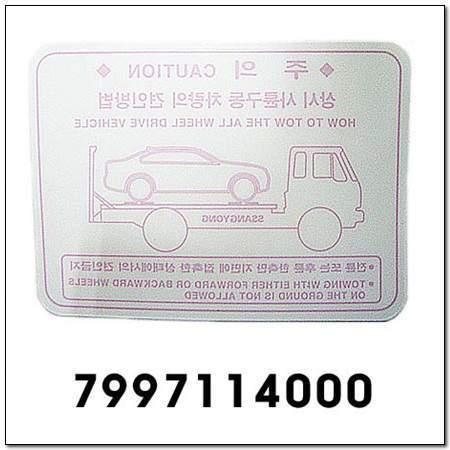 ssangyong 7997114000