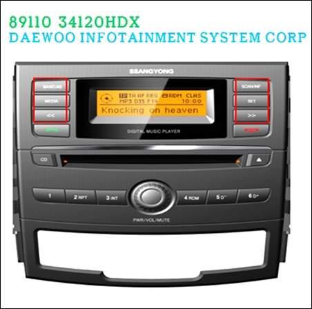 ssangyong 8911034120HDX